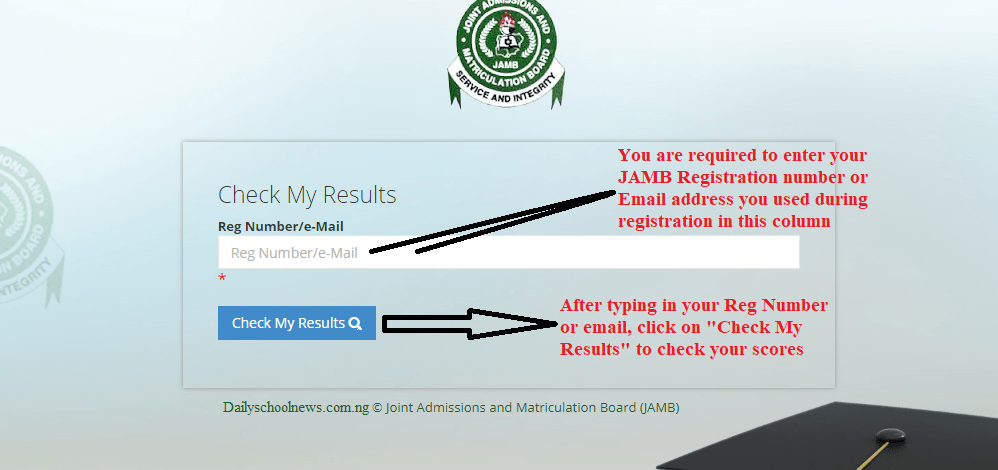 jamb portal to check result