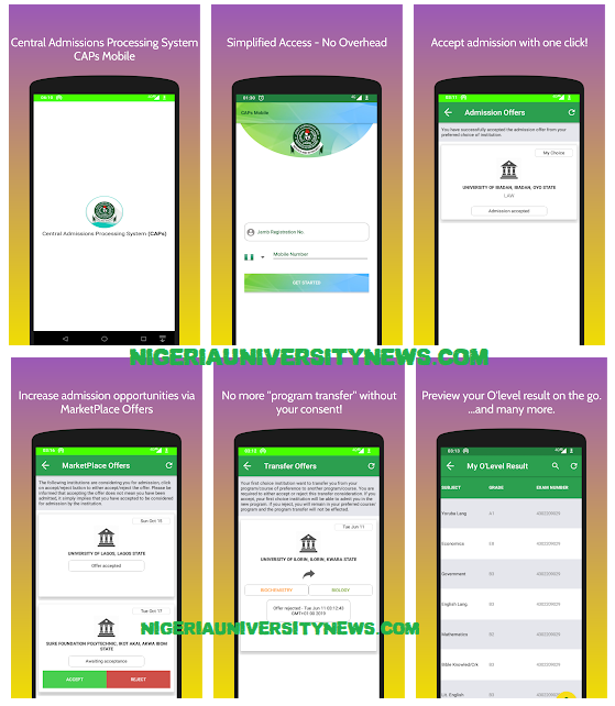jamb caps mobile app download